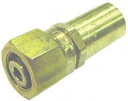 3//8 x 1//8-27 x 3//8 Tube to Pipe Run Tee Tompkins 271P-06-02-06 Poly Flow Fitting Brass