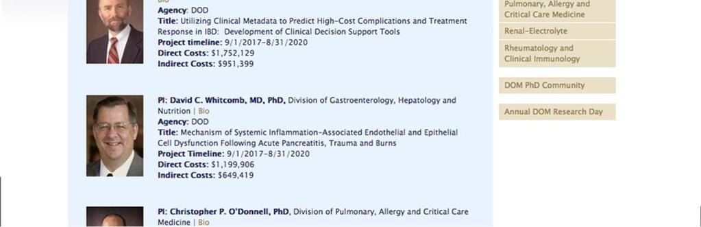Department of Medicine Faculty Meeting  Wednesday, September