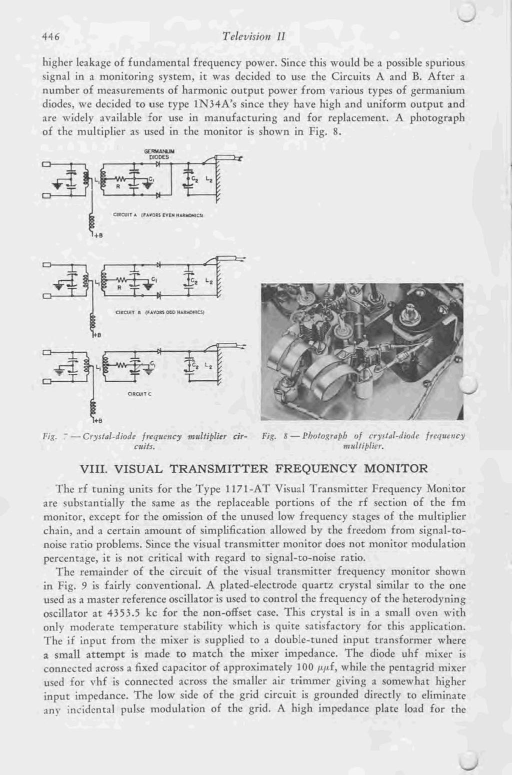Ultra High Frequency Television Monitor Pdf Circuit Theoscillatorcircuitoftheradiofrequencybutler Hisher Leakage Of Fundamental Power Since This Would Be A Possible Spurious Signal In