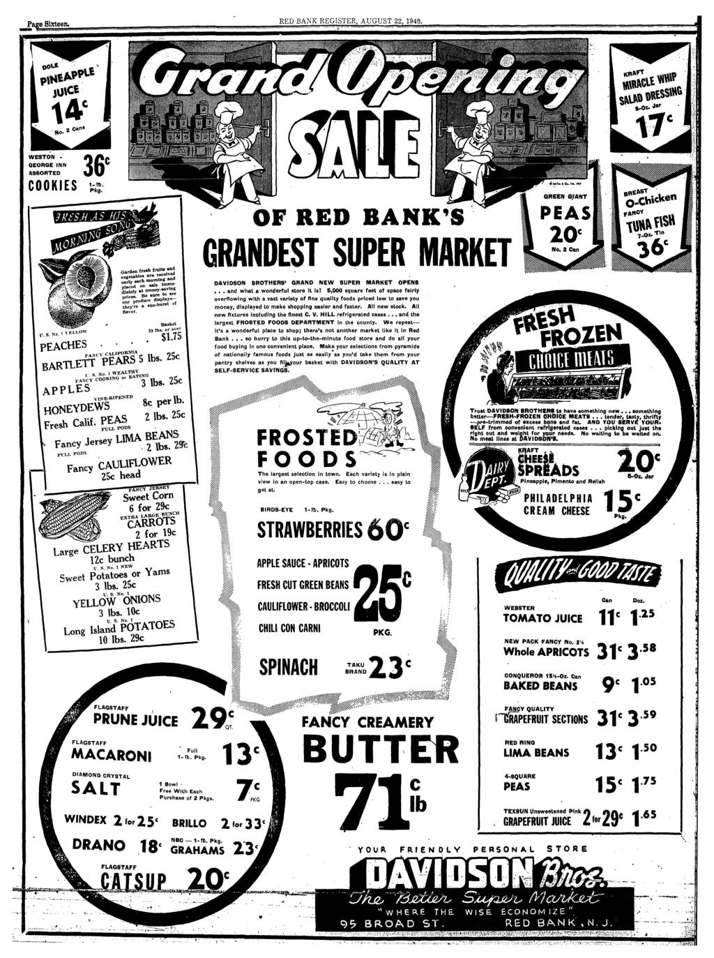 volume lxvix no 9 red bank n j thursday august 22 1946 Skills for a Teller Position red bank n j thursday august 22 1946 section one pages 1 to li i davidson brothers super market opened pdf
