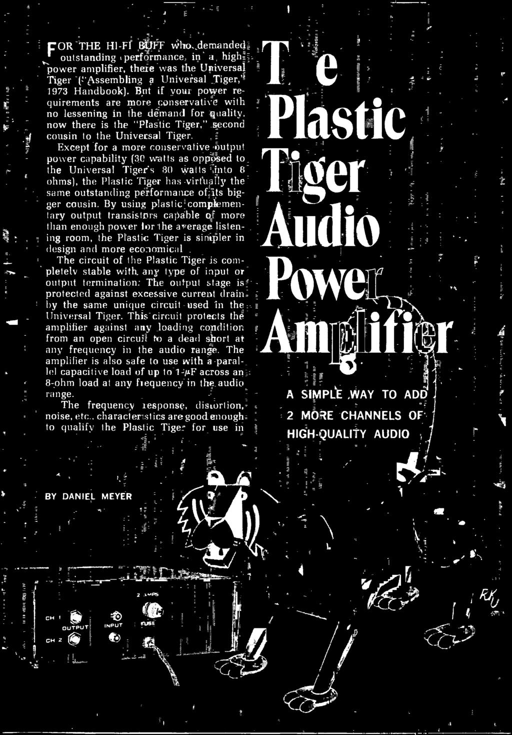 Handbook Experimenters 1973 Electronic Decoder Build The Cbs Ee Programmable Integrated Circuitcard Music Circuitintegrated Circuits Circuit Of Plastic Tiger Is Completely Stable With Any Type I