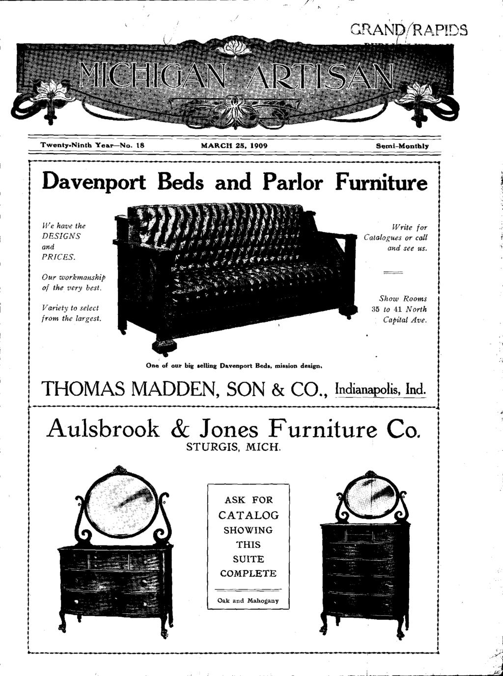 I A~lsbrook & Jones Furniture CO  Beds and Parlor Furniture
