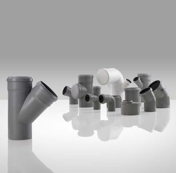 Push-fit flame retardant waste and drainage system inside