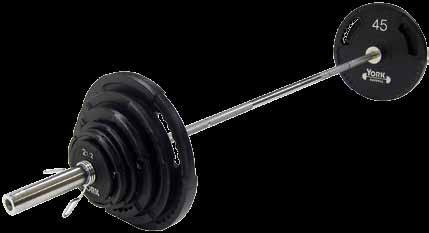 Weight Plates York Barbell New 45 lb Black Grip Olympic Steel 2 inch hole 7425