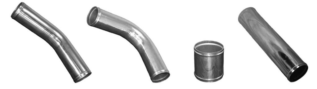 T304 Stainless Steel - 90 Degree Exhaust 2D Mandrel Bend 1.5mm Wall 57mm 2.25
