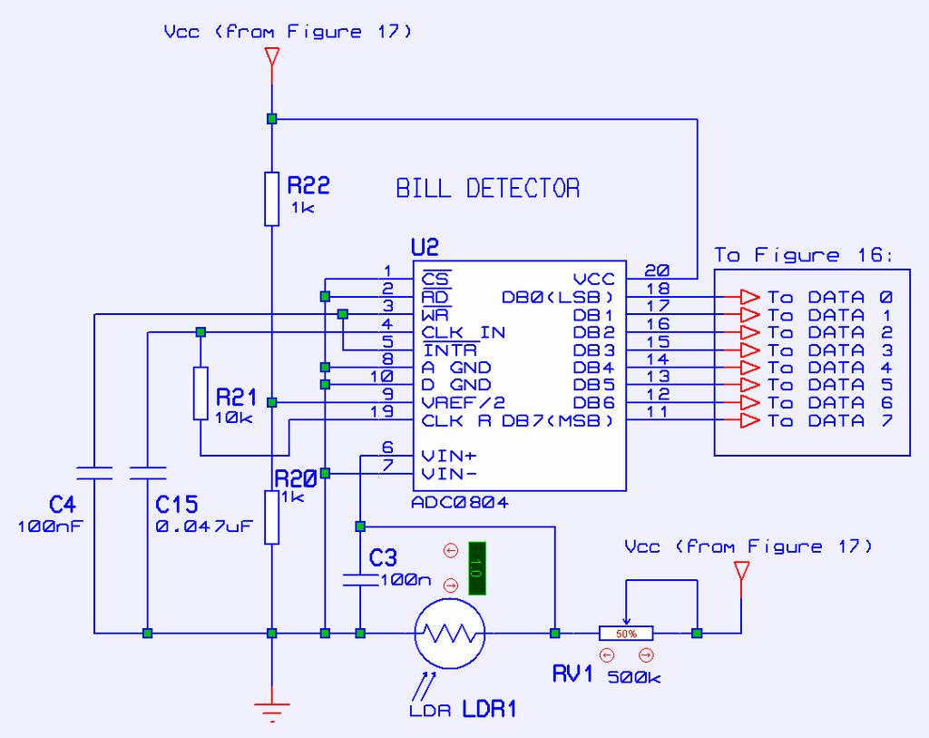 Microcontroller Based Bill To Coin Changer With Uv Light Dependent Dependant Resistor Forms The Base Of This Sensor Module Circuit 30 Consider In Figure 12 When Level Is Low Authentic