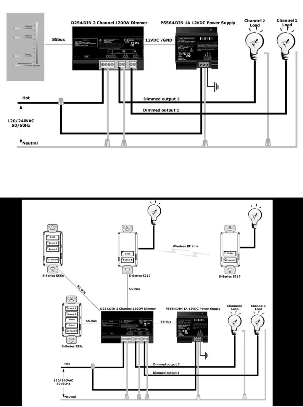 Typical Wiring Applications Figure 2. D254.