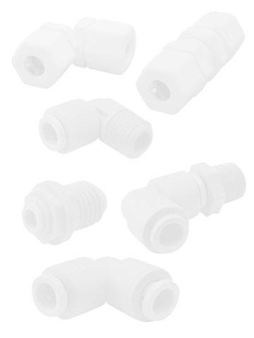 Fast-Tite Parker W6ME4 Compression Style Plastic Fitting White Polypropylene Tube to Pipe Compression and NPTF 90 Degree Elbow 3//8 and 1//4 3//8 and 1//4