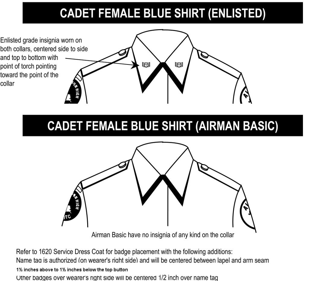 Air Force Junior Reserve Officer Training Corps Afjrotc Ok 942 And Succinct Diagrams Showing You How To Tie Various Necktie Knots 98 Figure 510 Cadet Female Light Blue Shirt Cont