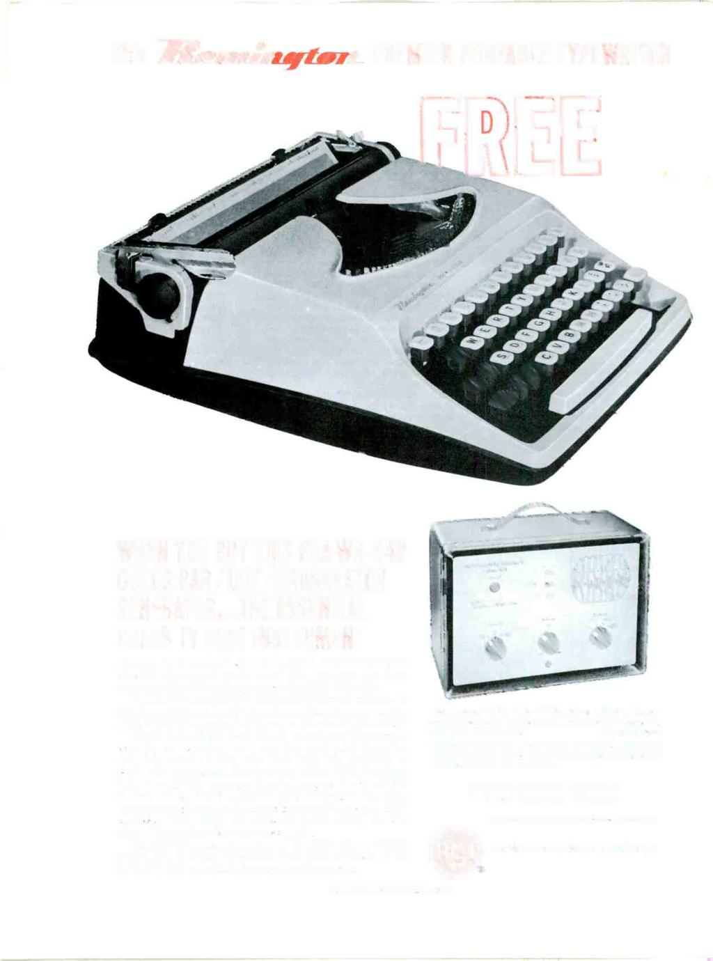 Fv A Al It 3 T 4 Ra Troubleshooting With The Scope Picture 25 Floppy Drive Wind Generator Construction Details This Premier Portable Typewriter When You Buy Rca Wr 64b Color Bar Dot
