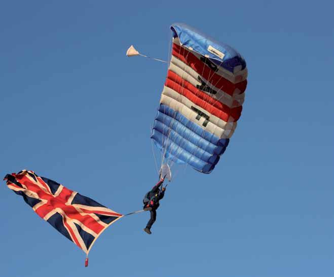 RAF Falcons Parachute Display Team Pre-season Training The RAF Falcons Parachute Display Team are about to begin a brand new season after months of preparation and