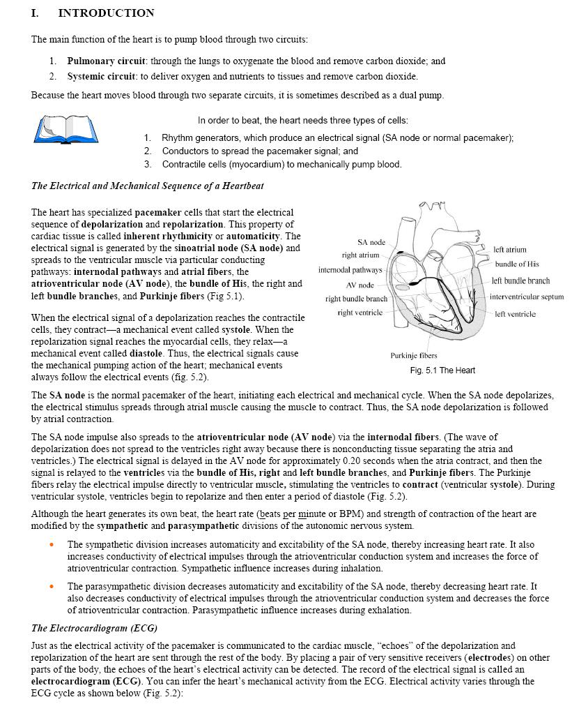 Physiology 001 Introduction To Human Physiology Lab By