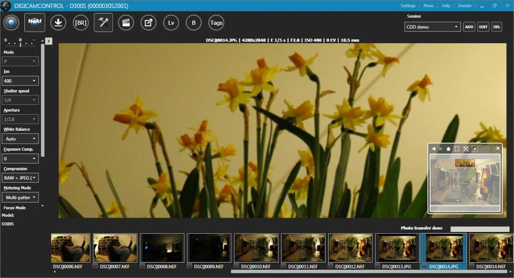 digicamcontrol supports most Nikon DSLR cameras as well as cameras