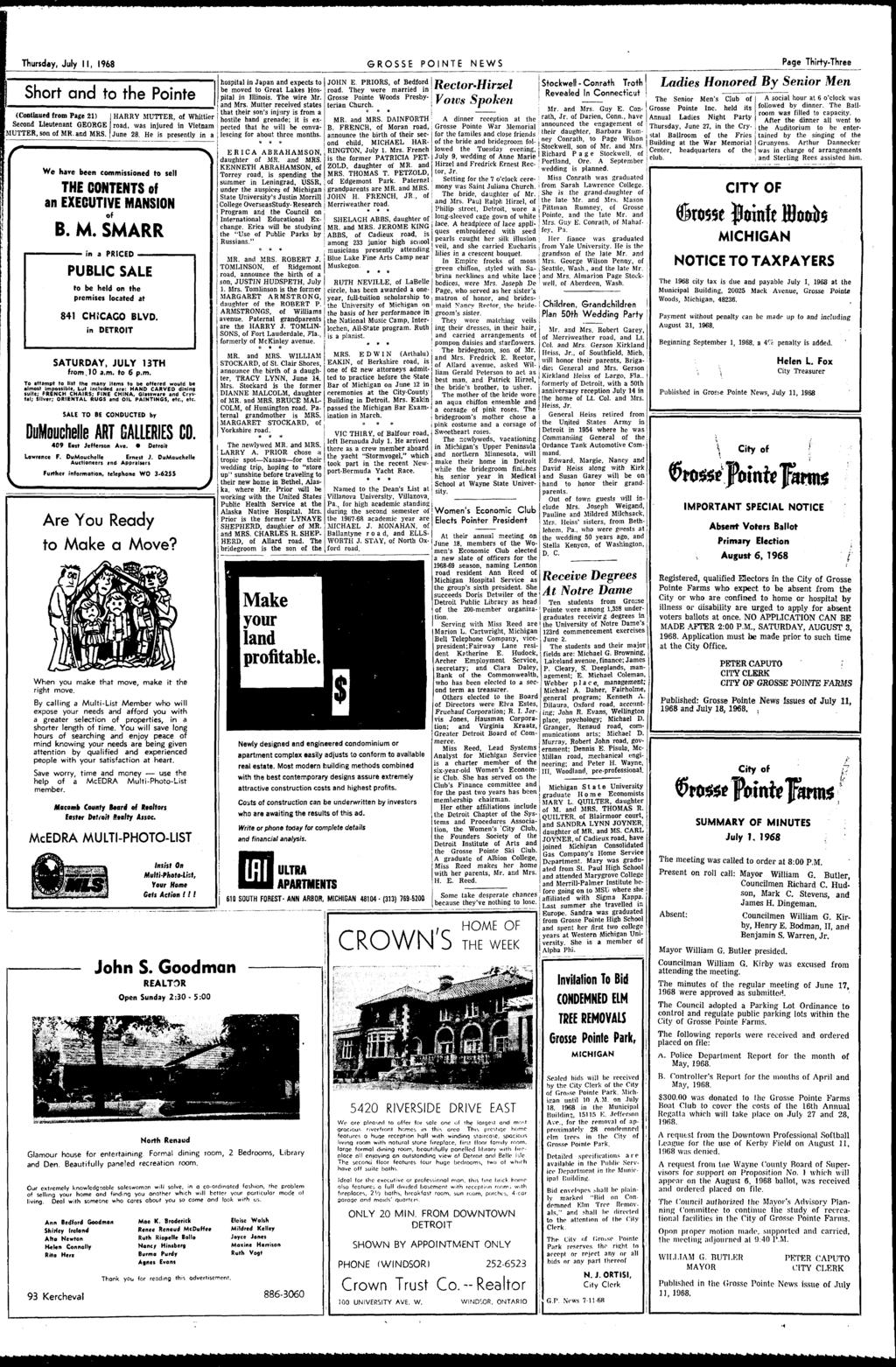 I Pointe Complete News Coverage Of All Tlte Pointes Pdf Made From Type Yf 707 Square Locked Conduit With Wire Over Braid Thursday July 1968 Grosse Ponte Page Thirty Three