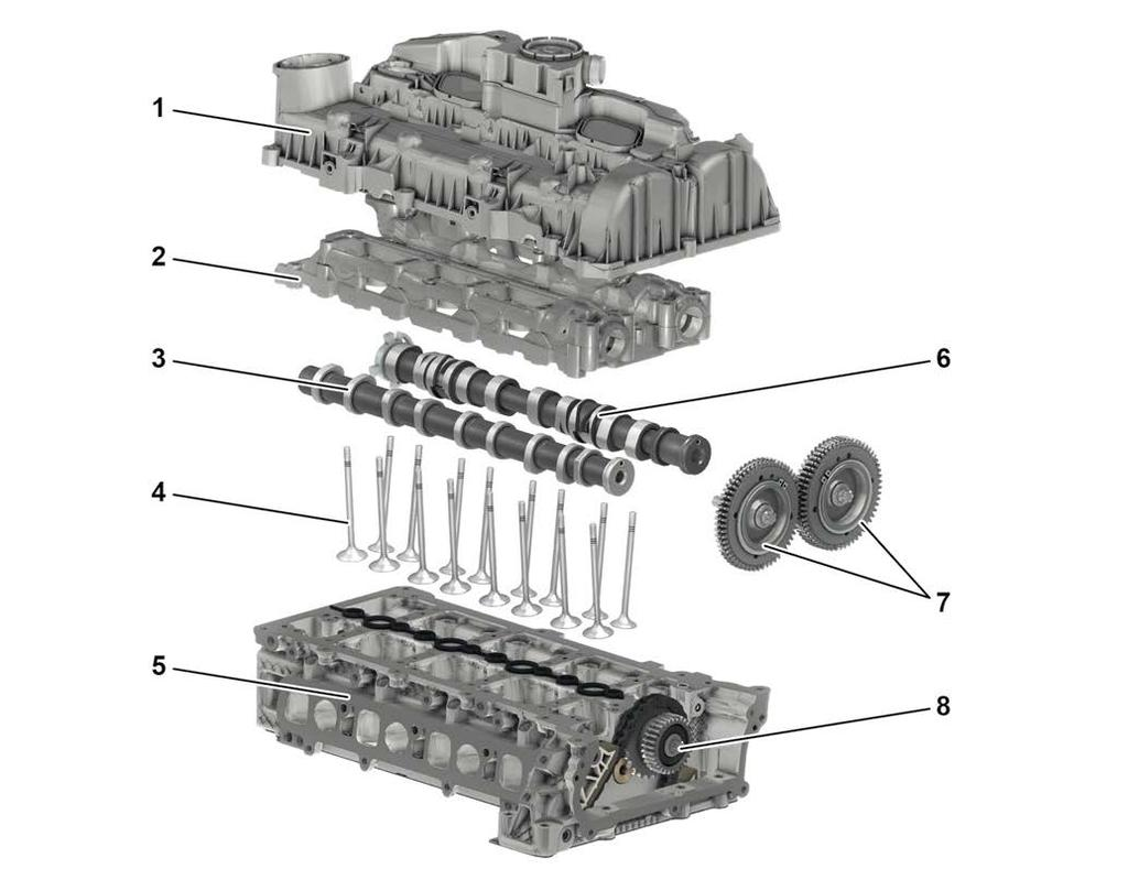 Introduction Of The Inline Engine Generation 4 Cylinder Om654 2010 Sprinter Intake Diagram Mechanical System Head Two Overhead Camshafts Operate Valves And Exhaust Per