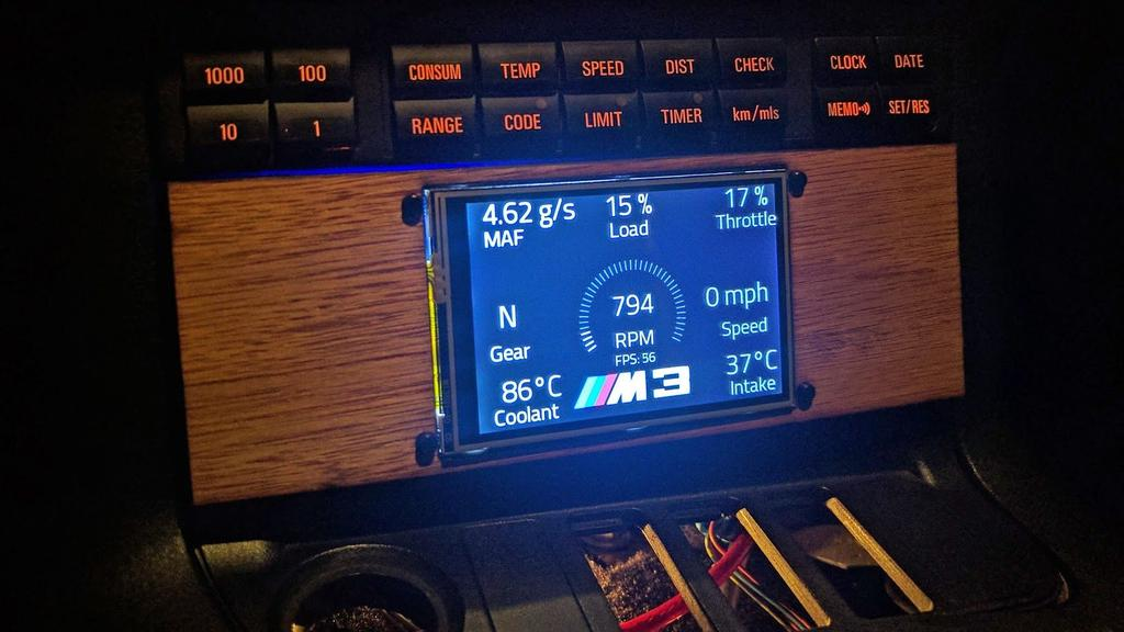 M3 Pi: Raspberry Pi OBD-II Touchscreen Car Computer