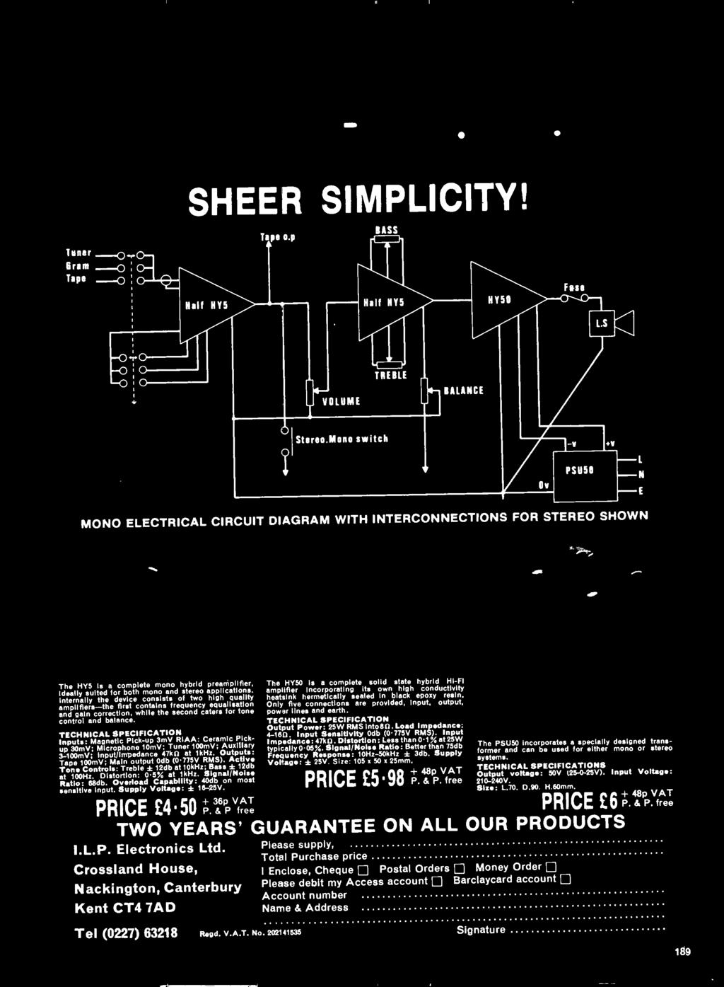 July P Updating Your Present Texan Amplifier Tele Tennis Add On Pin 15 Amp Wiring Diagram E39 Philips Radio Only Five Connections Are Provided Input Output Power Lines And Earth Technical
