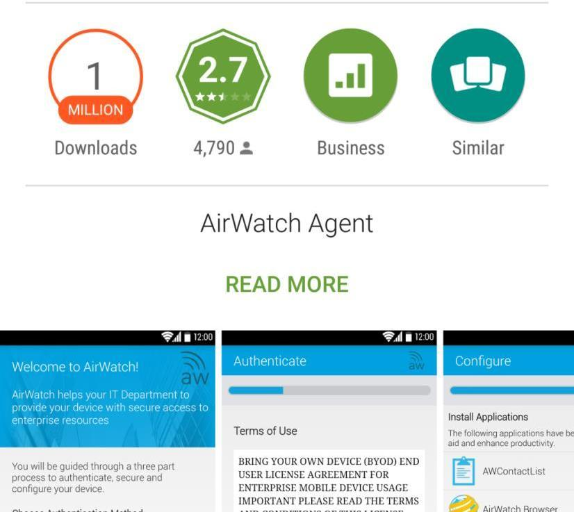 FOR USERS AIRWATCH  Software AirWatch  PRETTL IT