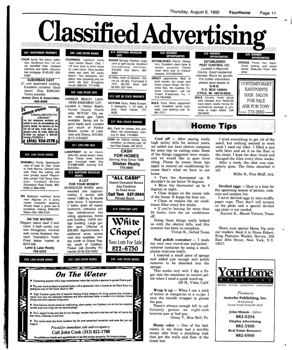 Your Community Newspaper 81mt Pdf How To Build A Horse Barn Hometips Thursday August 6 1992 Yourhome Page 11 E Vertisin 807 Nvestment Property Four Family