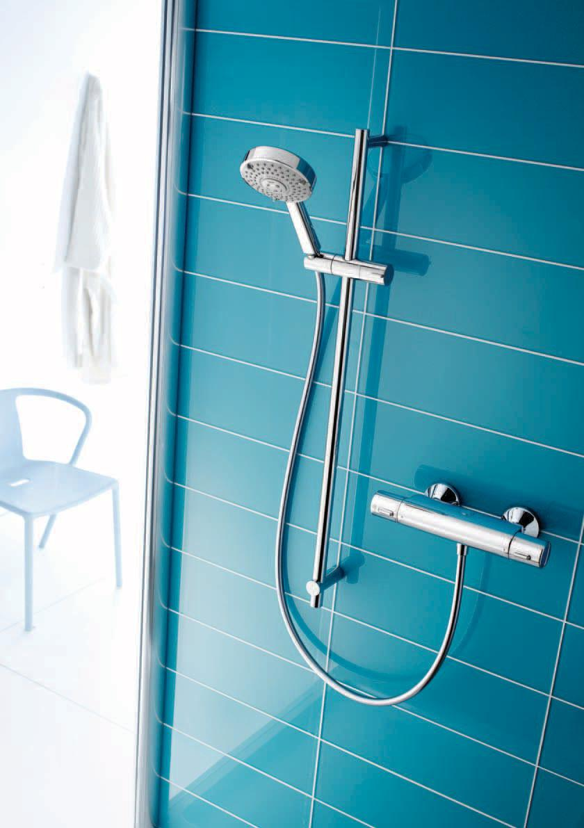Showers A Refreshingly Stylish Collection Pdf Active Exposed Bath And Shower Faucet Tt Attitude The Thermostatic Valve Gives You Complete Control For Safe Pleasurable Showering