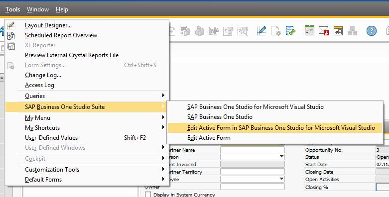 Working with SAP Business One Studio Suite - PDF