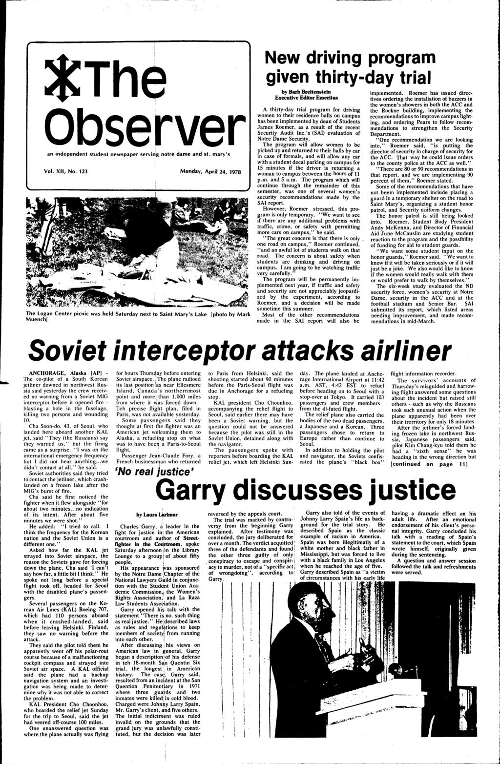 Soviet Interceptor Attacks Airliner Pdf No Disassemble The Behind Scenes Pic Of Day Is Alive Observer An Independe111t Student Newspaper Servig Notre Dame And St Marys Vol