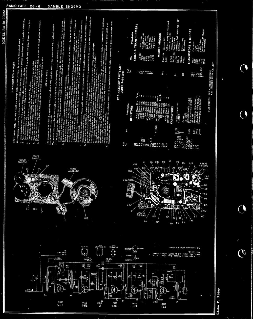 Transistor Radio Section Pdf Printed Circuit Board Of Transistors Capacitors And Other Components Servicing This Carried Away From The Grasp Leads With A Pair