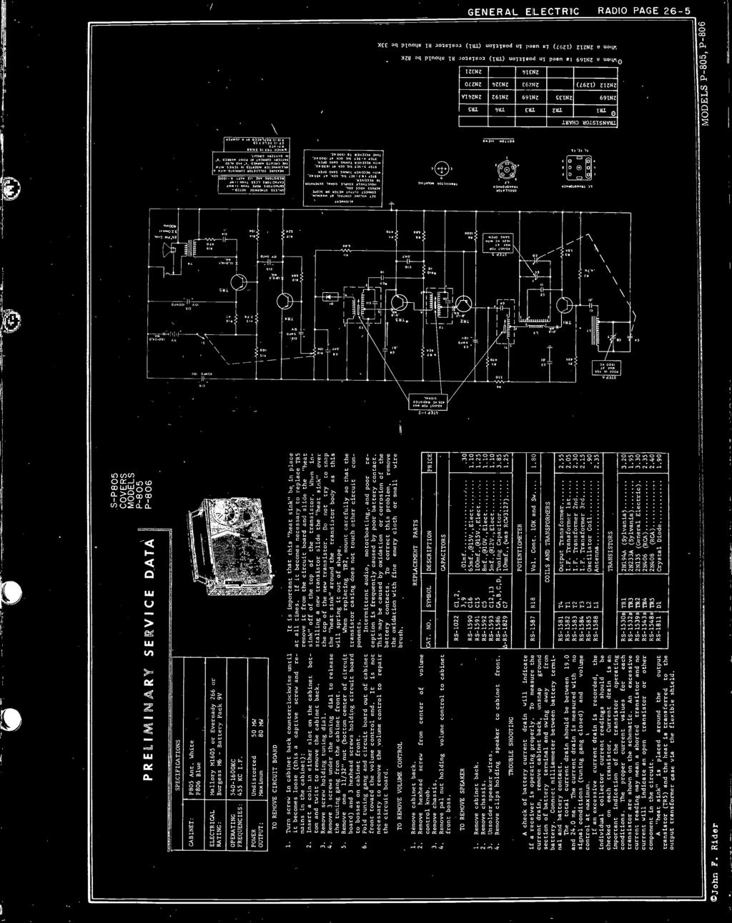Transistor Radio Section Pdf Asv Pt 80 Wiring Diagram Turn Screw In Cabinet Back Counterclockwise Until It Becomes Loose This A Captive And