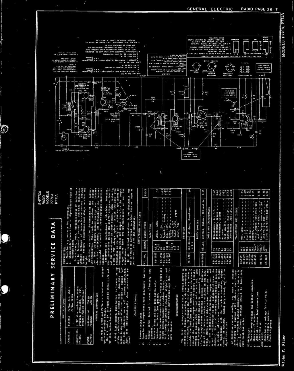 Transistor Radio Section Pdf Of Fortune Circuit Diagram Electronic Diagrams Schematics P77a Are Battery Operated Portable Radios The 45 Volts B Is Supplied By Three