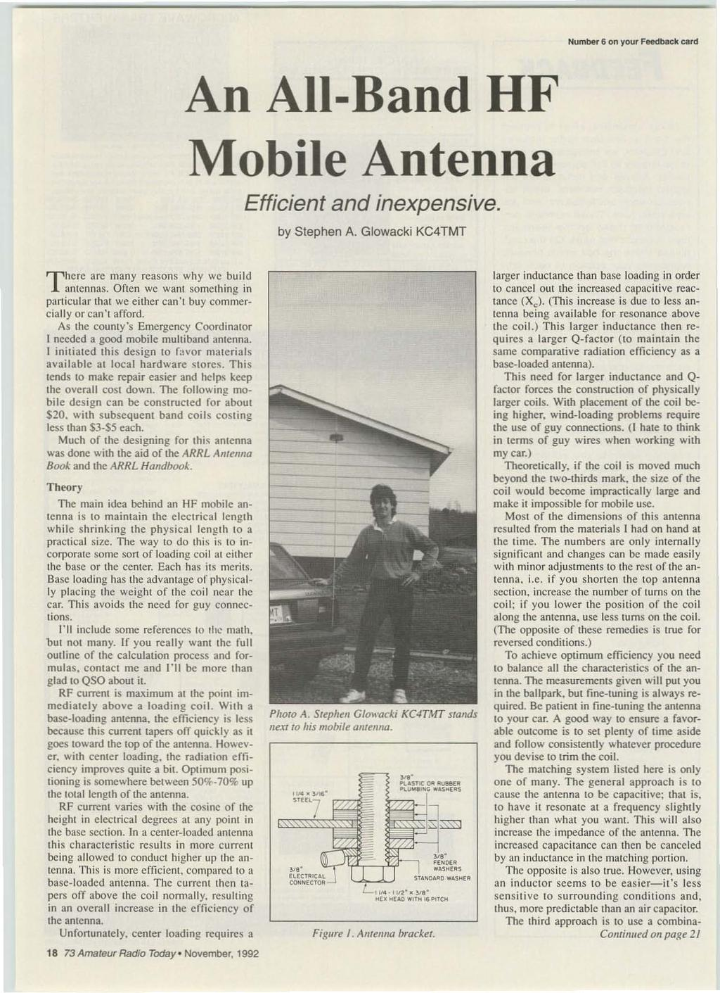 80/40 QRP Rig  Build An HF All-Band Mobile Antenna  What is Spread