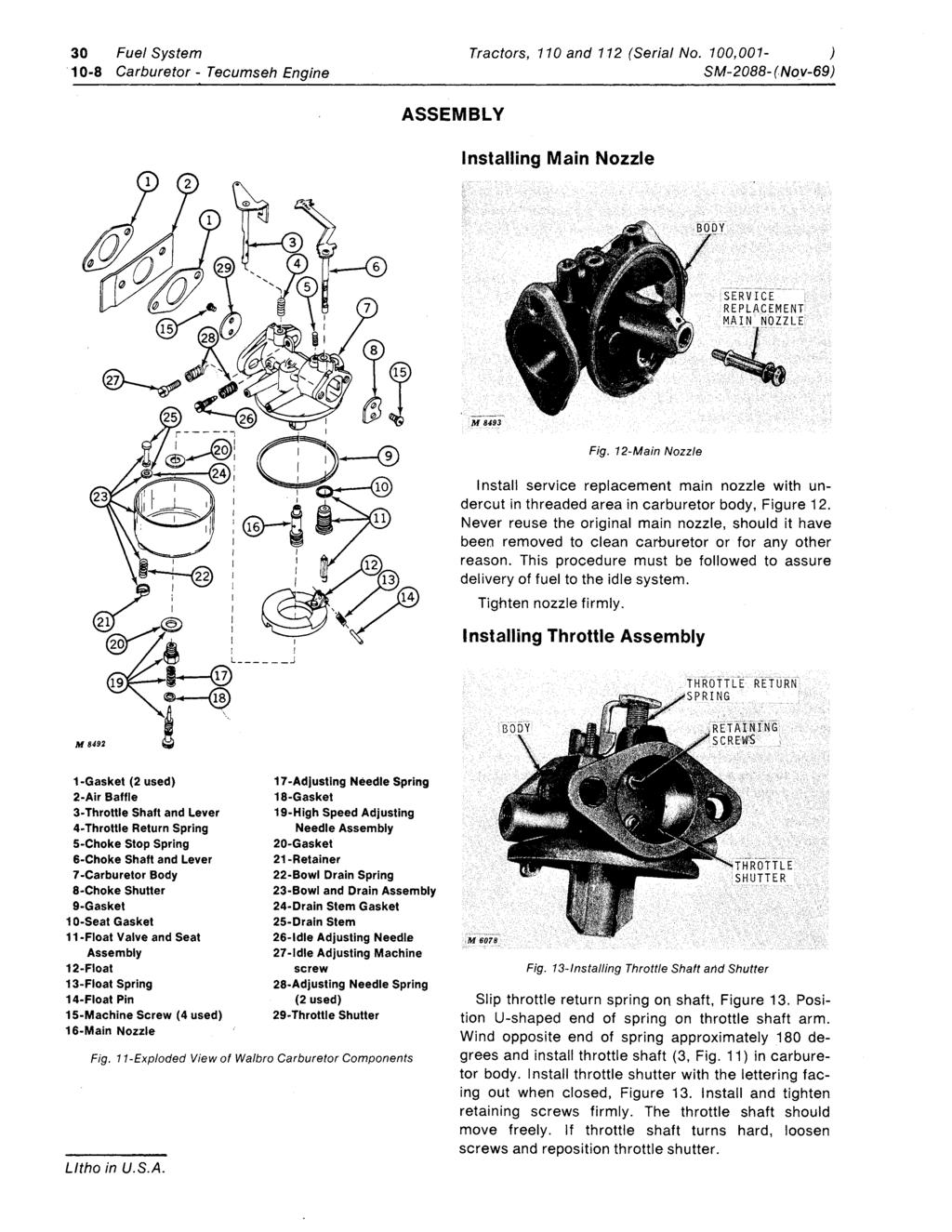 Tecumseh Carburetor On 6 Volt Tractor Charging System Wiring Diagram