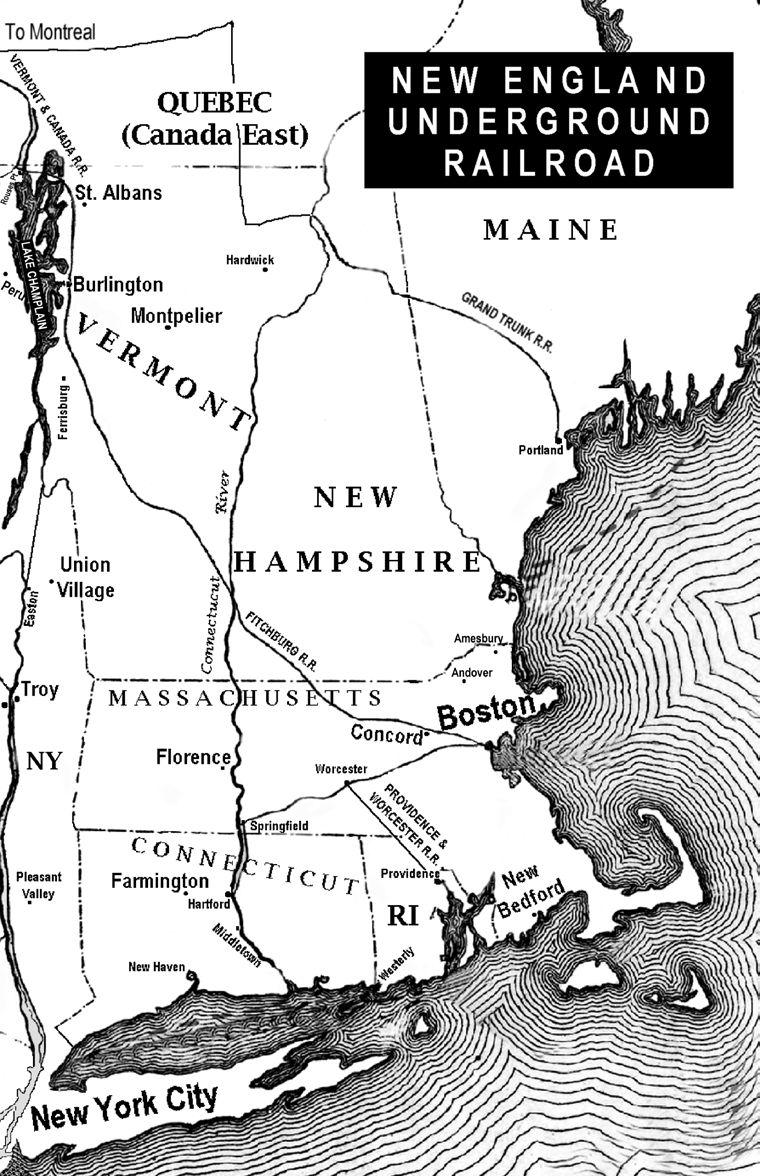 Places Of The Underground Railroad Pdf Bay Circuit Trail Map 8 Framingham To Ashland Section Hike New England Entries Covered Along With