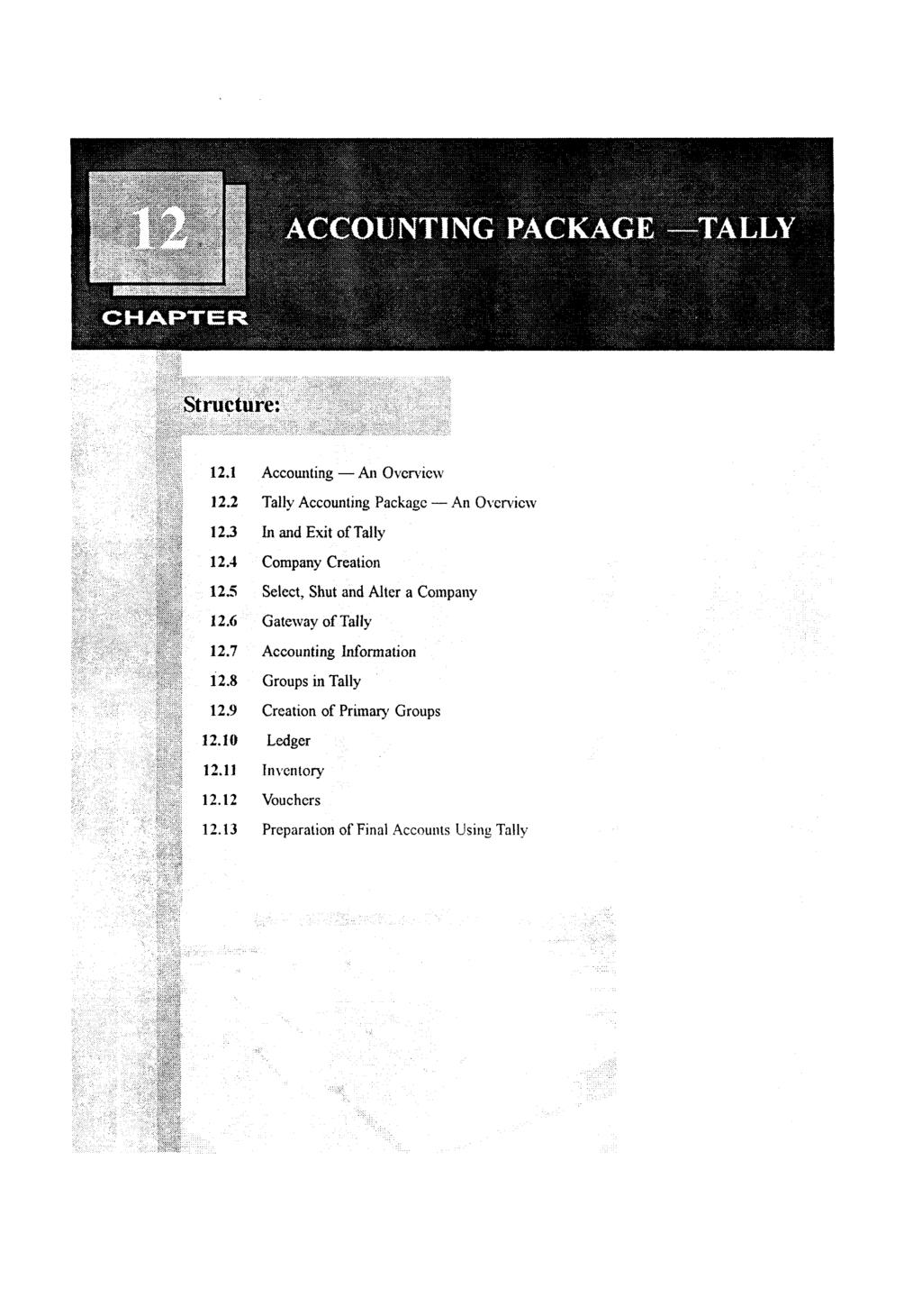 Structure Accounting An Overview Tally Package Voucher Deposit Fz Cell 500 121 122 123 124 125 126 127 128 129 1219 1211 12