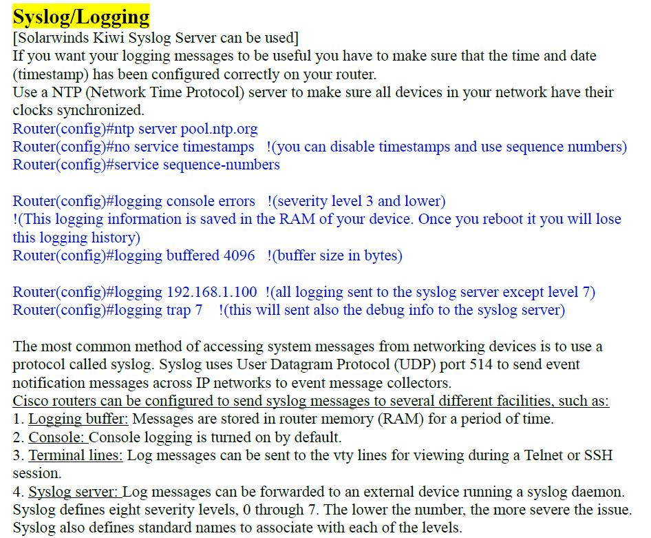 Cisco IOS Syslog Messages - PDF