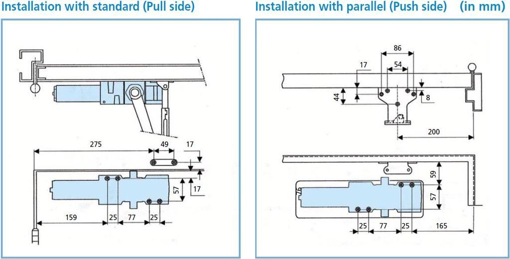 Ul Fire Rated Sp 1-6 Commercial Door Closer Ada Compliant Ansi 1