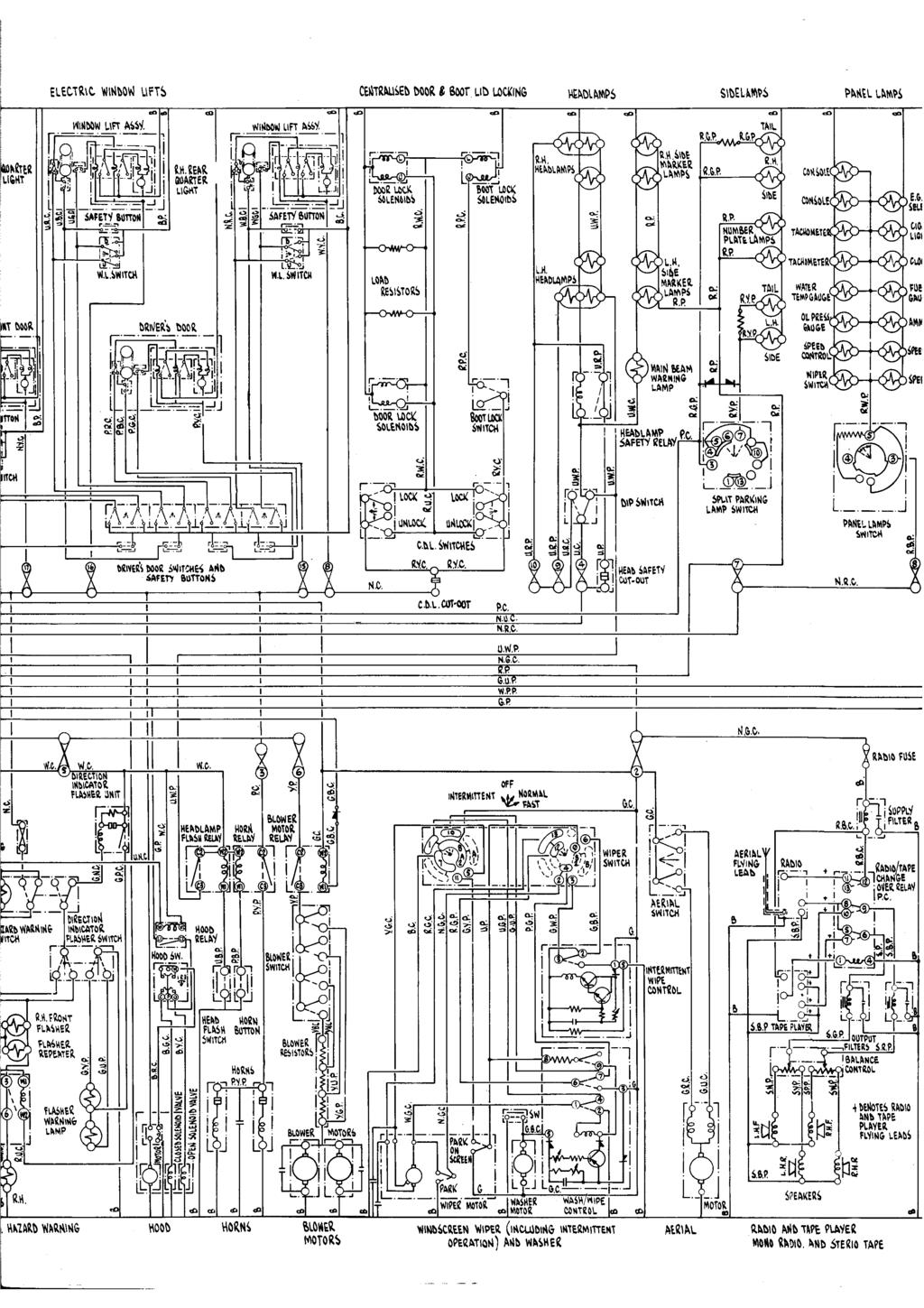 Left Hand Drive Cars From Serial Number Pdf Gbc Wiring Diagram 95 R Uc I Rdb N6c Ngc P Gup 6up Wpp G Gbg