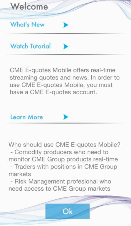 Cme Group E Quotes Application For Iphone And Ipad Welcome Pdf