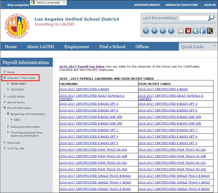 Los Angeles Unified School District Payroll Concepts Manual Los