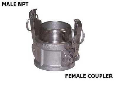 4 ID Campbell Fittings B-NY-400 Cam and Groove NY-Glass 4 4 ID 4