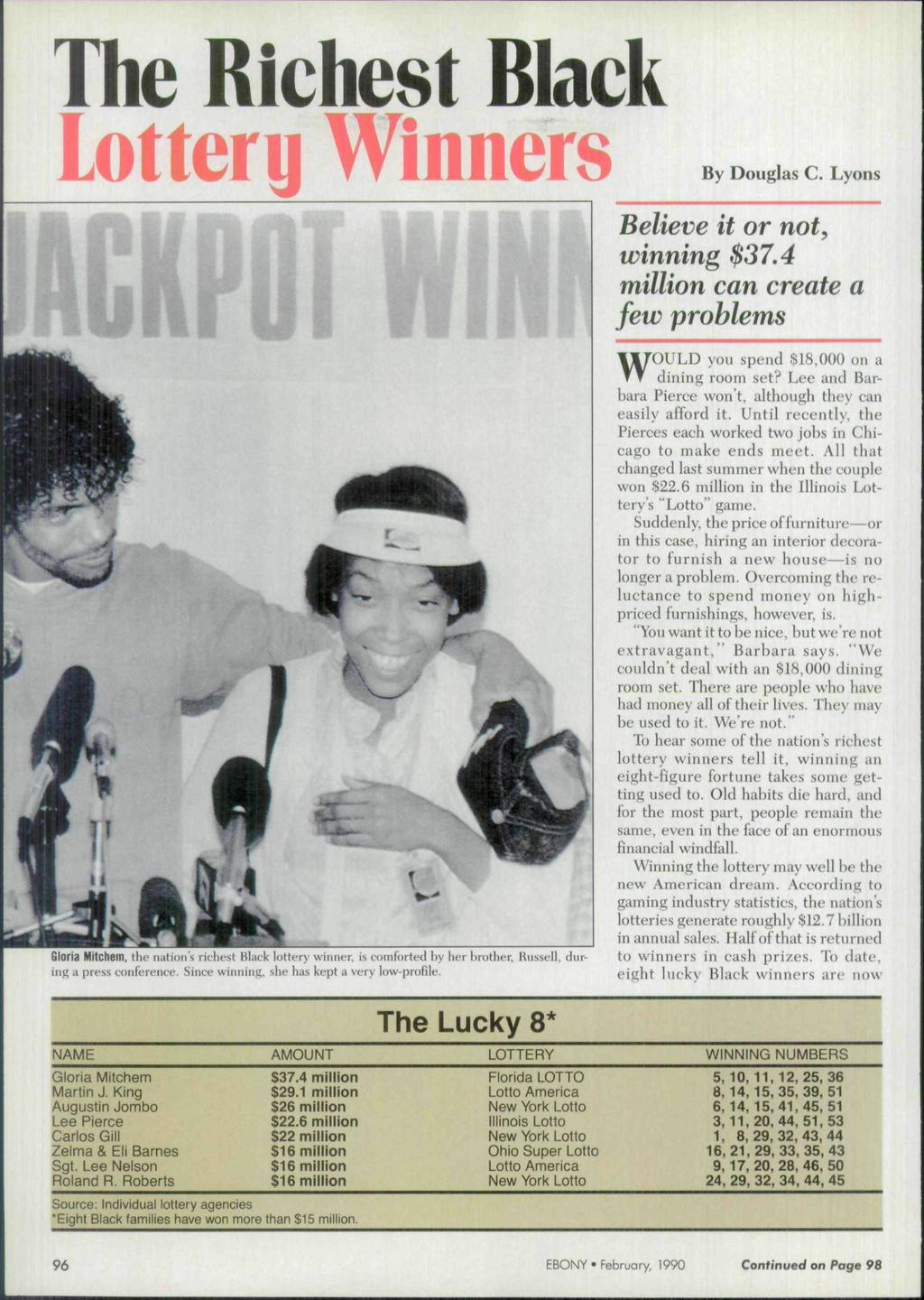 lagkpot The Richest Black Lottery Winners WOULD you spend $18,000 on