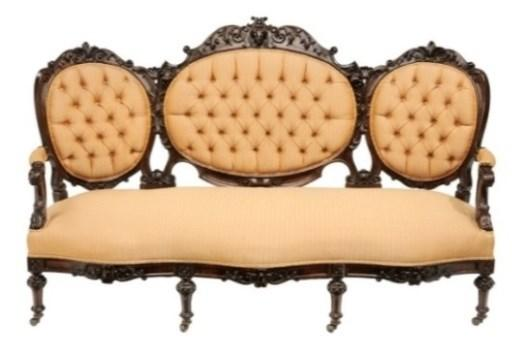 Furniture Forceful Bench Rococo Style Sofa Couch Grey Velvet Baroque Style Vintage Furniture Complete Range Of Articles