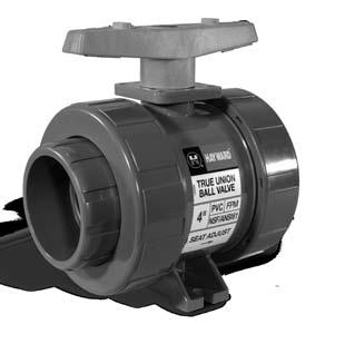 Gear Operated VITON and FPM Seals Hayward BYV14120A0VG000 Series BYV Butterfly Valve 12 Size PVC Body GFPP Disc