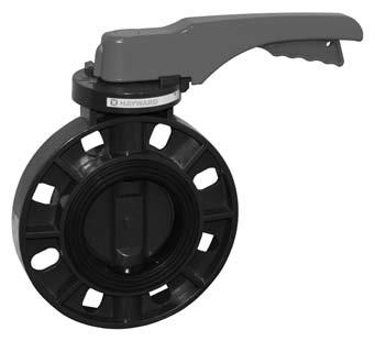 EPDM Seals 4 Size Lever Operated Hayward BYV44040A0EL000 Series BYV Butterfly Valve GFPP Body GFPP Disc