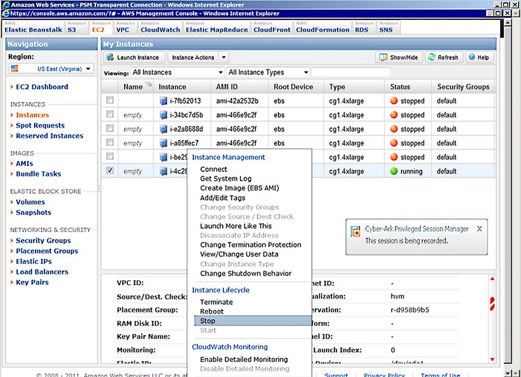 CyberArk Privileged Account Security for Amazon Web Services