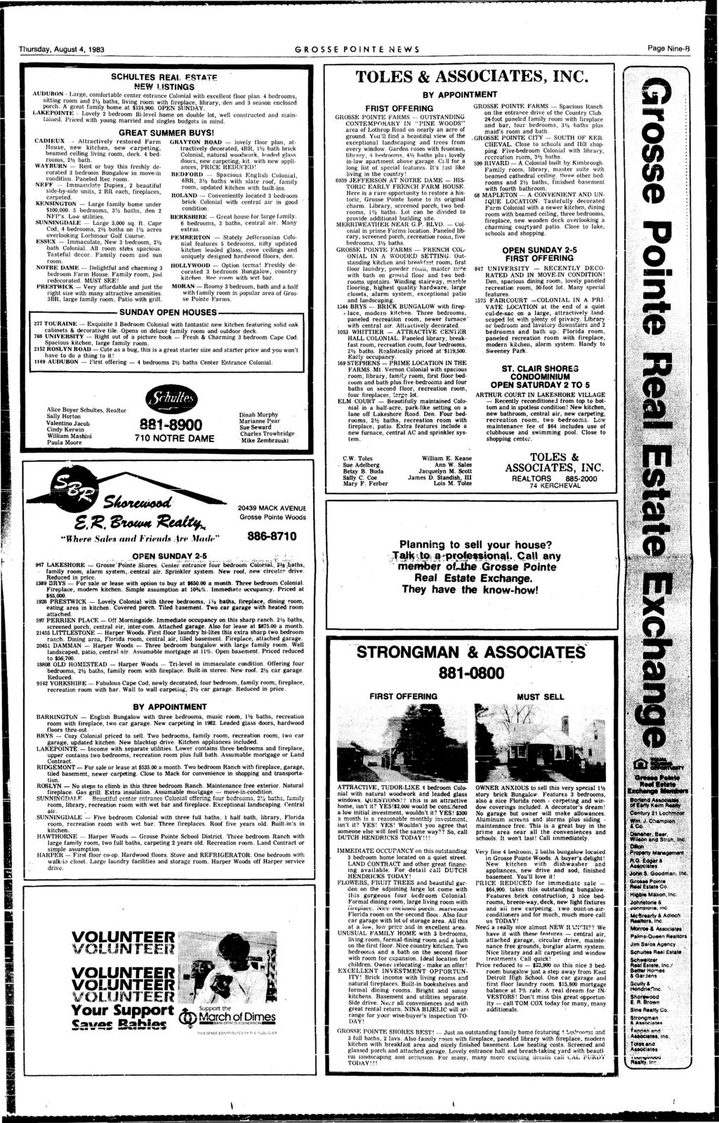 Grosse Pointe Ne Vv3 Pdf Wen 5500 Generator Wiring Diagram Thursday August 4 1983 Ponte News Page Nine B Schultes Real Pstatje
