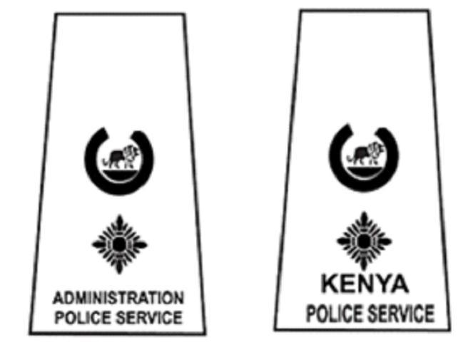 APPENDIX 31(gg): NATIONAL POLICE SERVICE BADGES OF RANK AND INSIGNIA