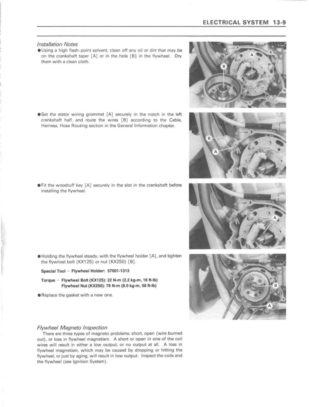 quick reference guide pdf electrical system 13 9 installation notes using a high flash point solvent