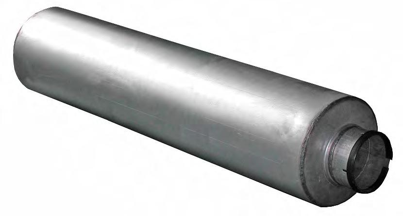 """4.5/"""" Stainless Exhaust Back Middle Box Silencer Muffler 57 mm 2.25/"""" Bore 114mm"""