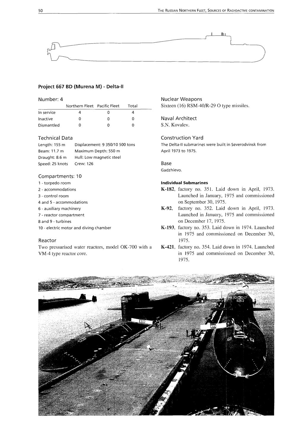 Bellona Report Volume 21996 Sources Of Radioactive This Picture Is The Diagram Shown In Service Manual For Murena 5 Russian Northern Fleet Contamination Project 667 Bd M