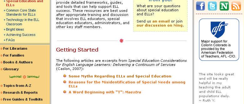 Special Education Considerations for English Language